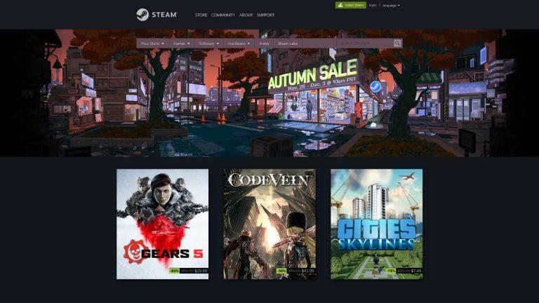 Steam's Autumn Sale Runs from November 26 to December 3