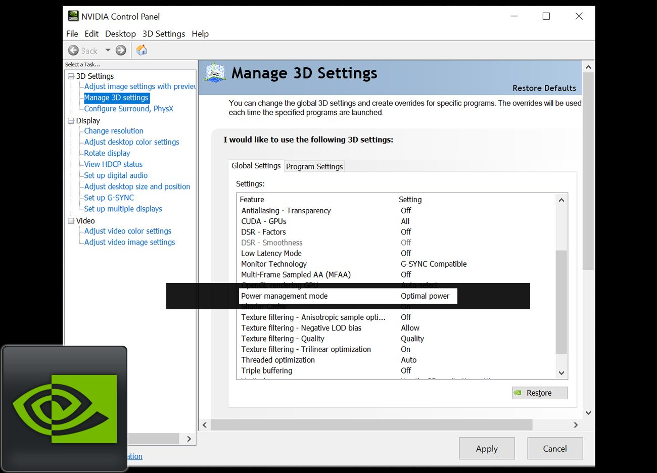 Best Nvidia Control Panel Settings 2020.Nvidia Geforce Driver Power Mode Settings Compared